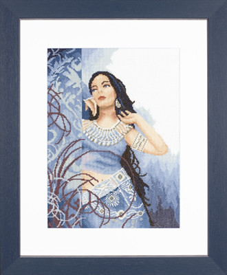 Набор для вышивки крестом Lanarte 35068 «Красота в Синем»