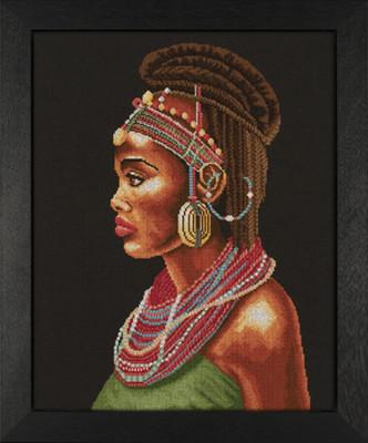 Набір для вишивки хрестом Lanarte 35075А «Африканка»