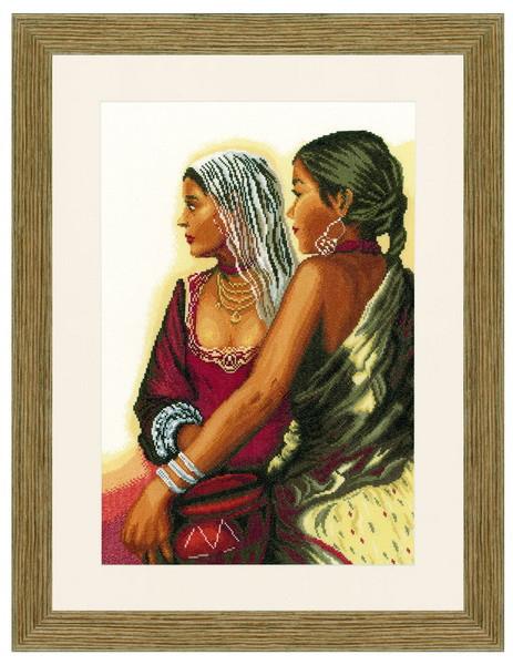 Набор для вышивки крестом Lanarte 35173 «Две индианки»