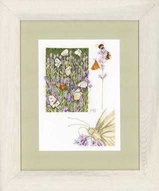 Набір для вишивки хрестом Lanarte PN-0147505 «Лавандове поле з метеликам»