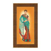 Набор для вышивки крестом Lanarte PN-0145757 «Индианка в голубом сари»