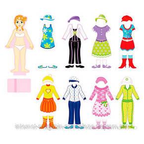 Набор магнитов Viga Toys Гардероб девочки (59652), фото 2