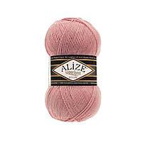 Зимняя пряжа для вязания Alize Superlana Klasik ализе суперлана классик темная пудра 144