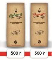 Натуральный жареный черный кофе в зернах, 500 г