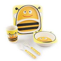 Набор детской бамбуковой посуды Eco Bamboo 246-24 Пчелка