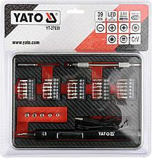 Аккумуляторная отвертка 3,6 В с битами 39 шт. YATO YT-27930, фото 3