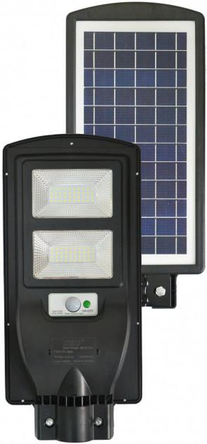 Фонарь уличный LED светильник на солнечной батарее UKC 5622 с датчиком движения 60 Вт Black
