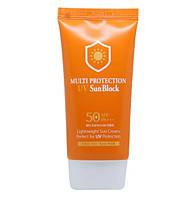 Санскрин с коллагеном 3W Clinic Multi Protection UV Sun Block SPF 50+/PA+++ 70 мл