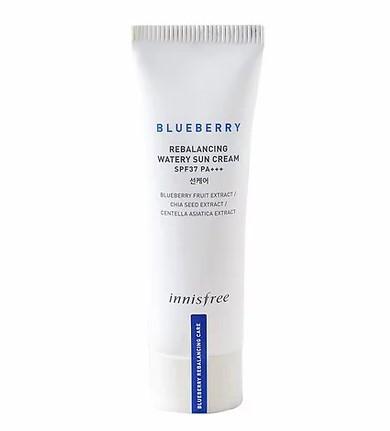 Зволожуючий санскрин Innisfree Blueberry Rebalancing Водянисті Sun Cream 40 мл
