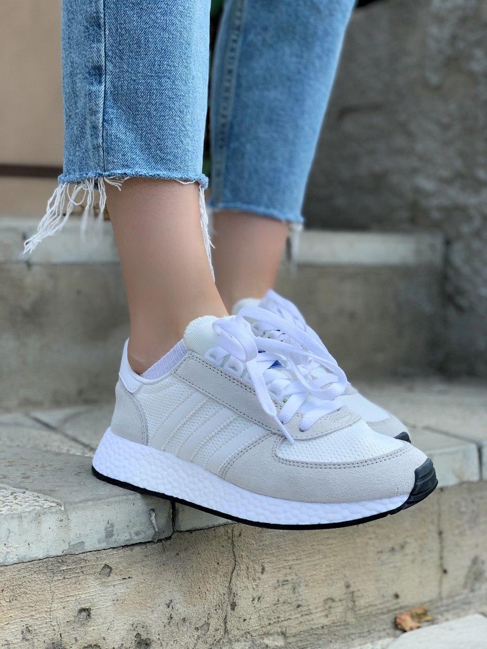 Жіночі кросівки Adidas Marathon Tech Білі, Репліка
