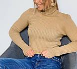Женский гольф из машинной вязки с высоким горлом, размер универсальный 304866, фото 2