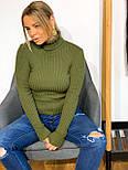 Женский гольф из машинной вязки с высоким горлом, размер универсальный 304866, фото 6