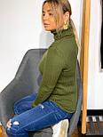 Женский гольф из машинной вязки с высоким горлом, размер универсальный 304866, фото 9
