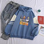 Женское свободное худи оверсайз с рисунком и капюшоном, размер универсальный 7804867, фото 2