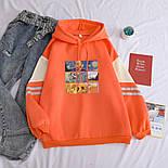 Женское свободное худи оверсайз с рисунком и капюшоном, размер универсальный 7804867, фото 3