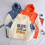 Женское свободное худи оверсайз с рисунком и капюшоном, размер универсальный 7804867, фото 4