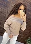 Женский кашемировый свитер с открытыми плечами в размере оверсайз 7604875, фото 2