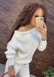 Женский кашемировый свитер с открытыми плечами в размере оверсайз 7604875, фото 4