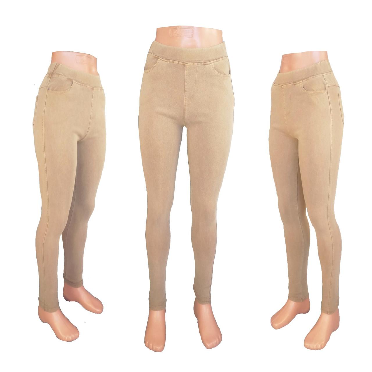 Джинсы джеггинсы цветные женские модные тонкие горчичный 44 размера