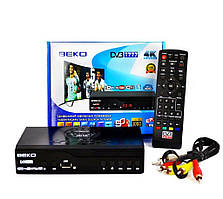 Цифровой эфирный тюнер с экраном DVB-T2 Beko IPTV/YouTube/WiFi/MP4/4K/1080 40шт T2-BK-2020