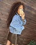 Женская короткая джинсовая куртка оверсайз 7601328, фото 3