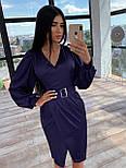 Шелковое платье миди с имитацией запаха и рукавами фонариками, р. 42 и 44 66031569Е, фото 2