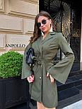Двубортное платье пиджак с расклешенной юбкой и рукавами в едином размере 42-44 17031571, фото 3