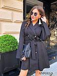 Двубортное платье пиджак с расклешенной юбкой и рукавами в едином размере 42-44 17031571, фото 5