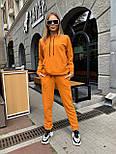 Женский спортивный костюм из трехнитки с худи и штанами на манжетах, р. 42-48 65051051, фото 2