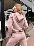 Женский спортивный костюм из трехнитки с худи и штанами на манжетах, р. 42-48 65051051, фото 5