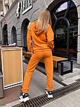 Женский спортивный костюм из трехнитки с худи и штанами на манжетах, р. 42-48 65051051, фото 6