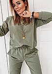 Женский спортивный костюм из двухнитки со свободной кофтой и штанами на манжетах, р. 42, 44, 46, 48 40051052, фото 2
