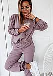 Женский спортивный костюм из двухнитки со свободной кофтой и штанами на манжетах, р. 42, 44, 46, 48 40051052, фото 5