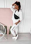 Женский спортивный костюм из двухнитки со свободной кофтой и штанами на манжетах, р. 42, 44, 46, 48 40051052, фото 6