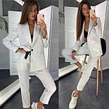 Классический женский брючный костюм с зауженными штанами и пиджаком 83101104, фото 4