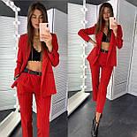 Классический женский брючный костюм с зауженными штанами и пиджаком 83101104, фото 5