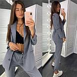 Классический женский брючный костюм с зауженными штанами и пиджаком 83101104, фото 6