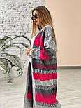 Яркий  вязаный кардиган миди с карманами и на распашку, размер универсальный 2209282, фото 7