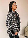 Женский пиджак в принт гусиная лапка из плотного твида, р. 42 и 44 2209283, фото 2