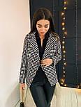 Женский пиджак в принт гусиная лапка из плотного твида, р. 42 и 44 2209283, фото 3