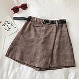 Женская юбка - шорты в клетку из костюмной ткани, р. 42 и 44 6811426, фото 4