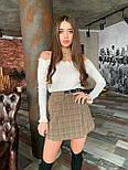 Женская юбка - шорты в клетку из костюмной ткани, р. 42 и 44 6811426, фото 6