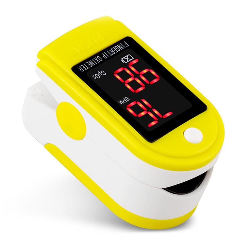 Пульсоксиметр на палец JZK-301 для измерения пульса и сатурации крови ЖЕЛТЫЙ Pulse Oximeter
