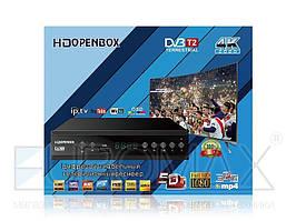 Тюнер DVB-T2 U006 METAL с поддержкой wifi адаптера (с экраном)