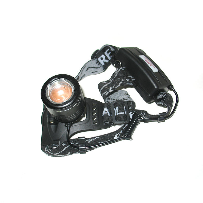 Фонарик налобный мощный Police BL-2177-T6 с зумом + 2 аккумулятора + две зарядки + Zoom + адаптер