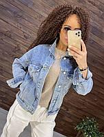 Классическая короткая женская джинсовая куртка 76KU330, фото 1