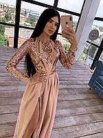 Длинное платье с верхом с пайетками и юбкой из многослойного фатина, р. 42 и 44 66PL1568Е, фото 1