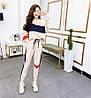 Трикотажный спортивный женский костюм трехцветный, р. 42 и 44 78SP1053