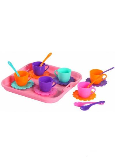 """Набор посуды """"Ромашка"""" на 6 персон с подносом 39084"""