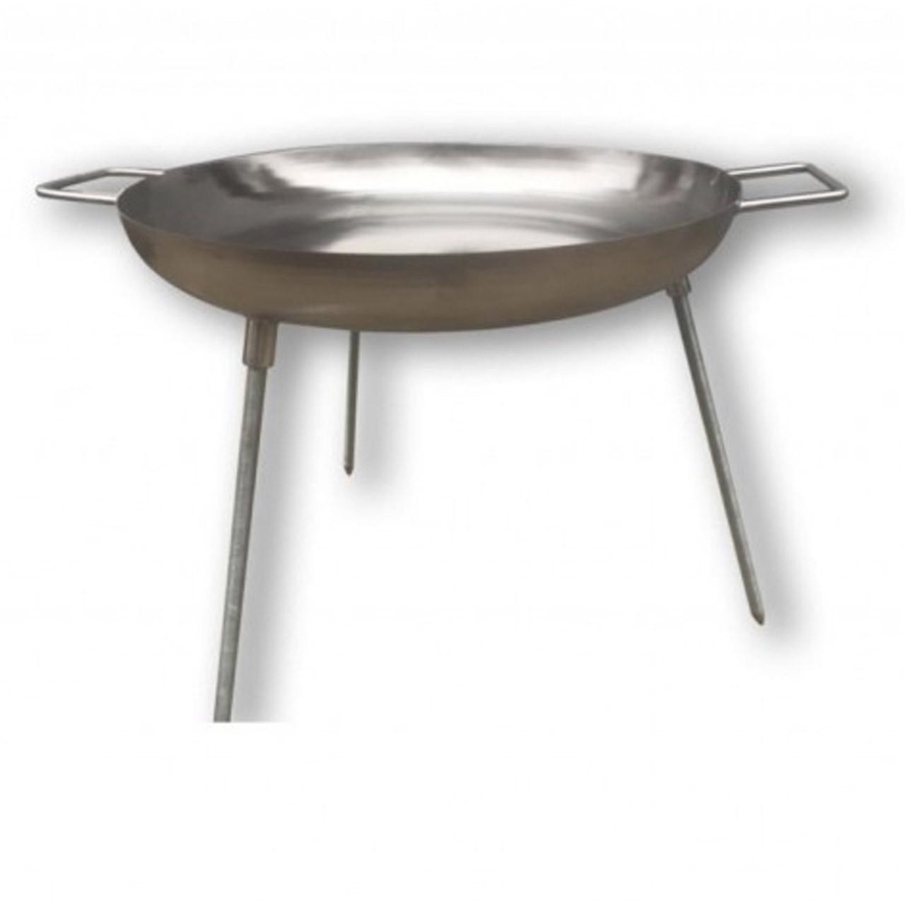 Сковорода большая для жарки на костре (нержавейка)